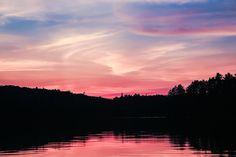 Summer Sunset on Clam Lake