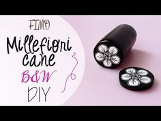 Black and White Flower Cane Tutorial - YouTube
