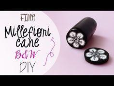 Tuto: Fimo Cane Fiore Bianco e Nero - DIY Fimo clay cane black&white…