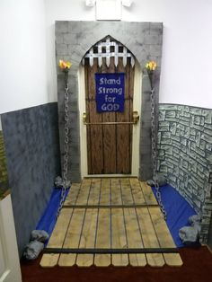 castle vbs & castle vbs - castle vbs decorations - castle vbs snacks - castle vbs decor - castle vbs crafts - castle vbs decorations armor of god - castle vbs theme - castle vbs armor of god Castle Classroom, Classroom Door, Grand Menage, Castle Doors, Medieval Party, Vbs Themes, Château Fort, Vbs Crafts, Armor Of God