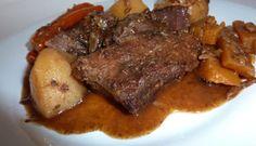 Rôti de palette au jus de pomme Steak, Pork, Recipes, Roti Recipe, Meat, Cooker Recipes, Apple Juice, Kale Stir Fry, Food Recipes