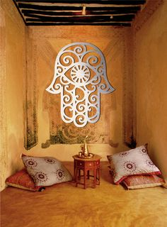 Hamsa Amulet Large Metal Wall Art