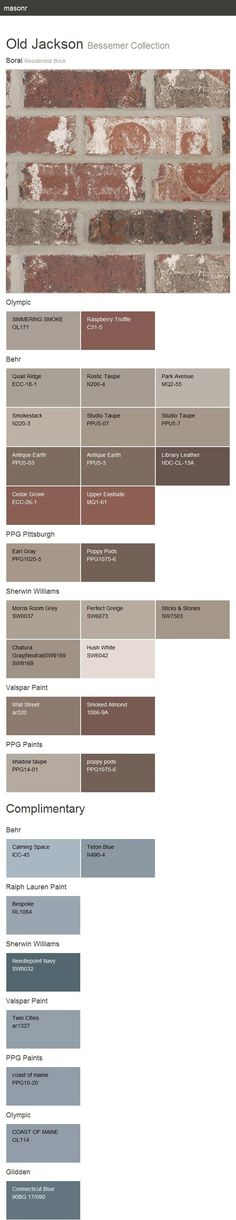 Colors that go with brick and rust google search interior exterior painting for house - Breathable exterior masonry paint collection ...