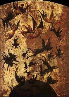 Anonymous, The Fall of the Rebel Angels, 14th Century.