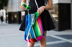 How to Turn a Blanket into a Chic Summer Carry-All