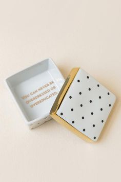 Rosanna - You Can Never Be Overdressed Or Over Educated Trinket Box-  gift-cl