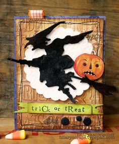 Trick or Treat card by @Hilary Kanwischer.