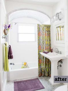 Tweaking the sink and toilet locations gave this small bath remodel a more spacious feel. | Photo: Ray Kachatorian | thisoldhouse.com