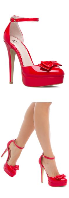 Red Bow Stiletto Heels