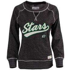 Old Time Hockey Dallas Stars Women's Black Seneca Snow Fleece Crew Sweatshirt
