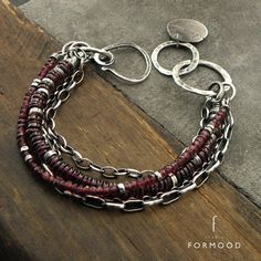 Bracelet is made of oxidized Sterling silver 925 and faceted & polished garnet Dimensions: The whole length: approx. 8.27 (21cm) Adjustable inside circuit: 6.89 - 7.48 inches (17,5-19 cm) Stones: approx. 0.11 - 0.2 / 3-5 mm  You can combine this bracelet with others from our gallery (the last picture)  TO USE THE DISCOUNT, YOU NEED TO ADD TO YOUR CART PRODUCTS WITH MINIMUM PRICE OF 150$ AND USE THE COUPON15  We pack all the items in corporate boxes (visible in some offers). We ship a...