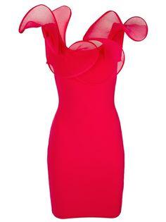 Antonino Valenti Ruffled Trim Bodycon Dress
