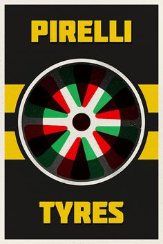 Vintage Italian Posters ~ Pirelli Poster 2 by Vespertin