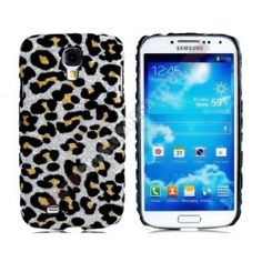 Carcasa divertida diseño leopardo Galaxy S4 en color gris