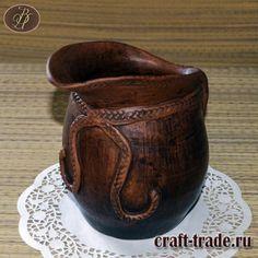 Керамический кувшин Милен - гончарная посуда из глины купить в интернет магазине Рукоделец