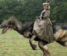 Obama Riding A Velociraptor Lady riding a velociraptor Obama Riding A Dinosaur