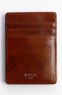 Bosca 'Hugo Bosca - Old Leather' Front Pocket Wallet available at #Nordstrom