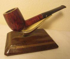 Kaywoodie Flame Grain Straight Billiard Style Estate Briar Tobacco Smoking Pipe