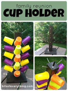 Follow these simple instructions to make a fun Family Reunion Cup Holder. You'll use it at large gatherings for many summers to come!