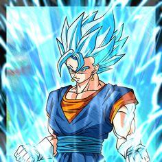 Dragon Ball Z, Vegito Ssj Blue, Twitter Link, Goku, Geek Stuff, Wallpapers, Anime, Fictional Characters, Art