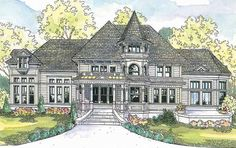 Queen Anne House Plan with 3457 Square Feet and 3 Bedrooms from Dream Home Source   House Plan Code DHSW52050