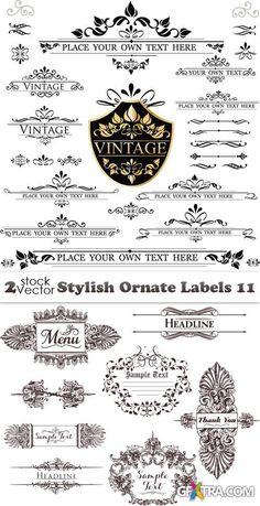 Vectors - Stylish Ornate Labels 11