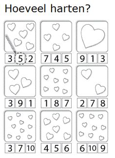 How Many Hearts? Counting worksheet for Preschool/Kindergarten. How Many Hearts? Numbers Preschool, Preschool Kindergarten, Preschool Worksheets, Preschool Learning, Preschool Activities, Counting Worksheet, Number Worksheets, Teaching, Valentine Theme