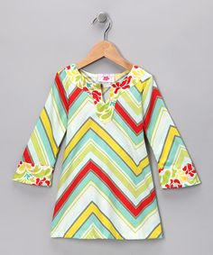 Take a look at this Lime & Red Poppy Abstract Tunic - Toddler & Girls by Chatti Patti on #zulily today!