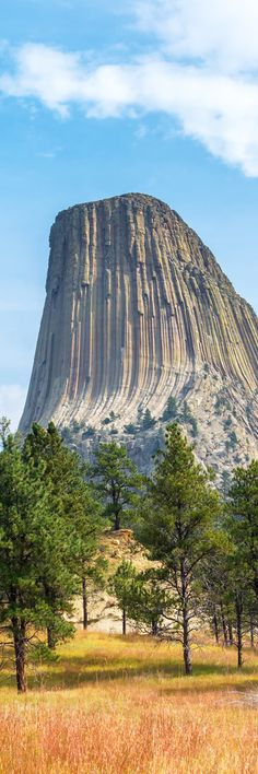 Devil's Tower, Wyoming  So majestic, not like any building man can make N