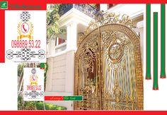 Cửa cổng nhôm đúc, cua cong nhom duc, cửa cổng, cua cong, Gate and fences, Gate, Villa, Classic, Nice Gate.
