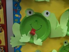 frog art -1st grade & paper plate frog template (can go with toad and frog book) | crafts ...