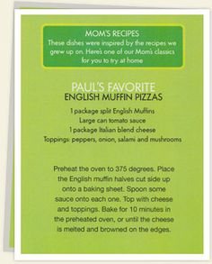 alma wahlberg red sauce recipe | Paul's Favorite: English Muffin Pizza