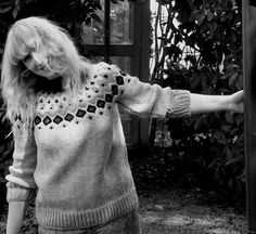 Icelandic Yoke Jumper grey black cream hand knit by KnittedHistory, £95.00