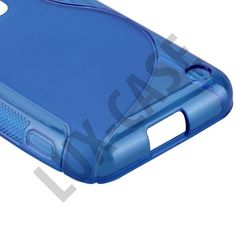 S-Line Transparent (Blå) Nokia Lumia 620 Skydd Cover, Blankets