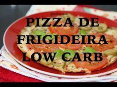 Pizza de frigideira low carb com dois ingredientes - Dieta Low Carb