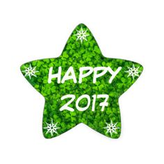 Happy 2017, Happy New Year Shamrock Star Sticker