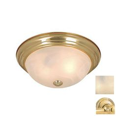 I think this is what I want.  Cascadia Lighting�11-in Polished Brass Ceiling Flush Mount