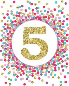 5 Sign Fifth Birthday Party Decor Birthday Party Sign Fifth Birthday Sign Pink Gold Glitter Five Sign Girl Birthday Party Decorations 10th Birthday Parties, Art Birthday, Birthday Images, Birthday Party Decorations, Birthday Thank You Notes, 13th Birthday Invitations, Personalized Thank You Cards, Birthday Numbers, Party Signs