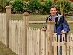How to Build a Custom Picket Fence  A custom picket fence introduces a little flair in an otherwise utilitarian landscape element.    More in Outdoors
