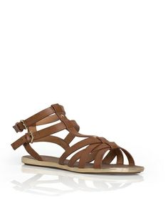 sandals with gold edge on the sole