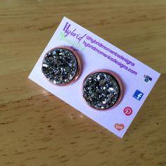 Black Diamond druzy back in stock 🌟 Shown in Rose Gold 💛🌹