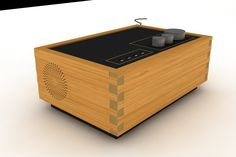 #render #amplifier #houd #wood #black