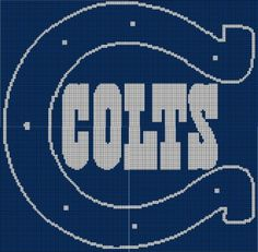 Indianapolis Colts Crochet Afghan Pattern Graph, $5.00... Pattern now available in MS Excel Format for easier following. More patterns available soon in this easier format!!!