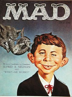 """Al Feldstein (1925 - 2014) Writer, Artist, Mad Magazine Editor who created Alfred E. Neuman, the """"What, Me Worry?"""" kid who was the magazine's mascot."""