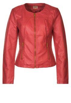 JANE - Chaqueta de cuero sintético - rojo