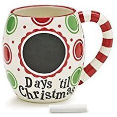 Days 'Til Christmas Chalkboard Mug - Ceramic Cup