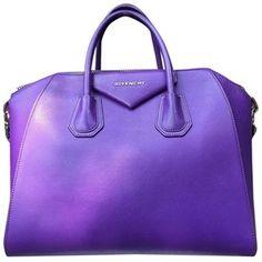 Pre-owned Givenchy Medium Antigona Rare Silver Hardware Htf Rare Purple Satc