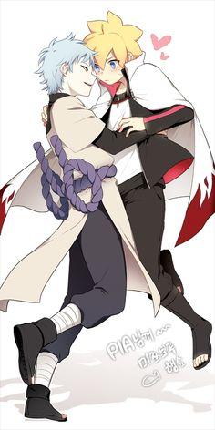 Tags: Anime, Pixiv Id 3536917, Boruto: Naruto the Movie, NARUTO, Uzumaki Boruto, Mitsuki (NARUTO), Borrowed Clothes