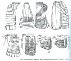 bustle skirt old - Google Search