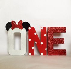 """Minnie Mouse Glitter Stand Up """"ONE"""" Letter Sign- First Birthday-Photo Prop-Party Decor-Paper Mache Letters-Winter ONEderland-Decorations Minnie Mouse Cupcake Toppers, Minnie Mouse Birthday Decorations, Minnie Mouse Birthday Theme, Red Minnie Mouse, First Birthday Photos, 2nd Birthday, Birthday Ideas, Birthday Letters, Birthday Gifts"""
